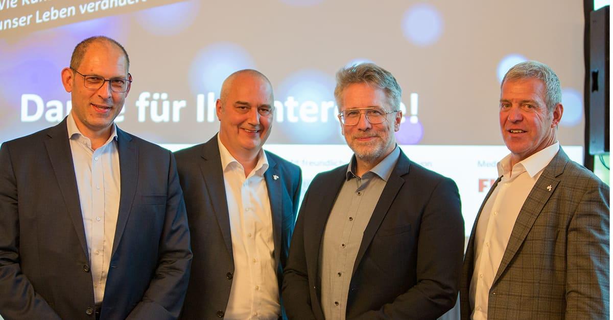 Auftakt Wissenschaftssommer   Bernd Bäumler, Heiko Dietz, Prof. Dr. Stefan Heinemann, Dr. Heinz Kierchhoff