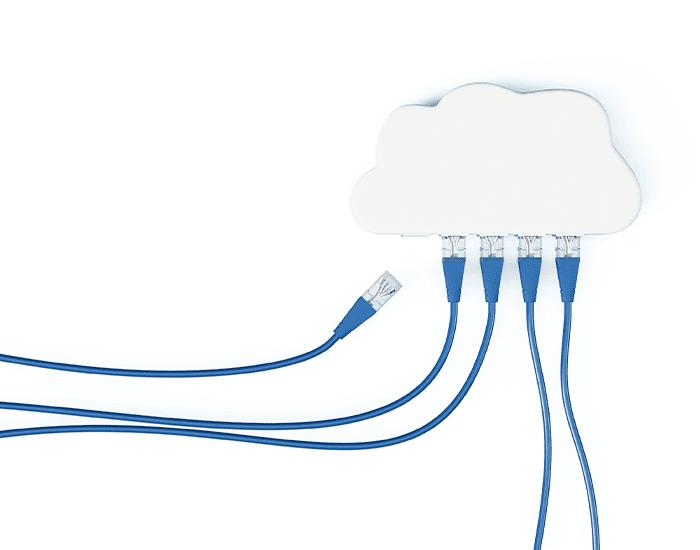 Illustration Netzwerk Cloud