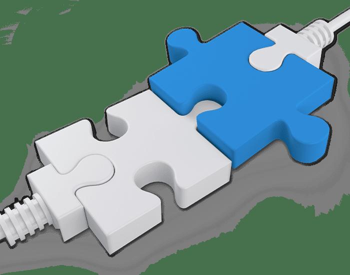 Illustration Puzzle Schnittstelle