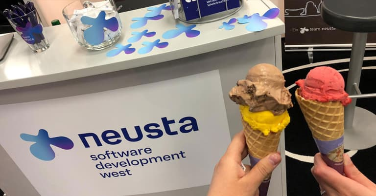 Jobmesse Stand neusta software development West